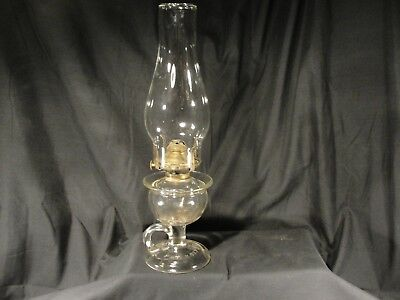 Vintage Pressed Glass Oil Finger Lamp Queen Anne Burner Lomax Patent Sep 20 1870