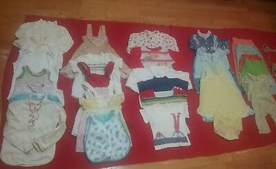 Vintage  girl's clothes lot dresses shirt blouses 1970 80s CARTERS HEALTH-TEX