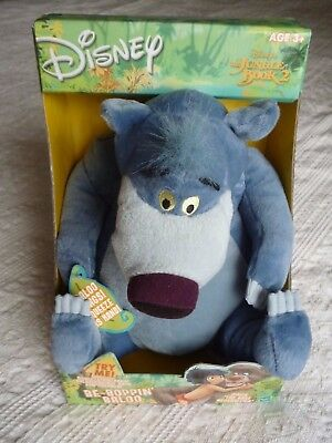 Disney 12 inch Be Boppin Baloo 6 sayings and song Brand New Condition
