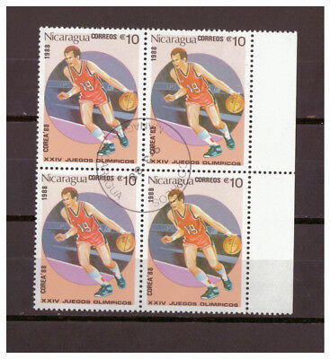 Nicaragua, Olympische Sommerspiele, Seoul Basketball MiNr. 2853, 1988 used
