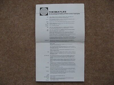 Beatles Official Fan Club  Chronological History/career Highlights 1955/1968