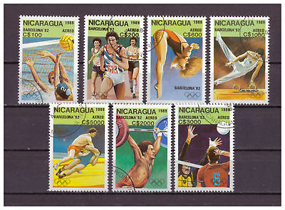 Nicaragua - Olympische Sommerspiele, Barcelona MiNr. 2959 - 2965, 1989 used