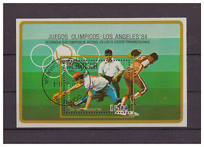 Nicaragua,Olympische Sommerspiele, Los Angeles MiNr. 2529 Block 159, 1984 used