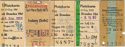 Railway tickets Germany mixture/seat reservations 1930's to 1950's well used