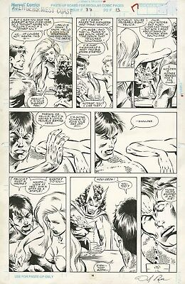 AVENGERS WEST COAST #77 Page 13 SCARLET WITCH Original Art by ROSS/DZON 1991