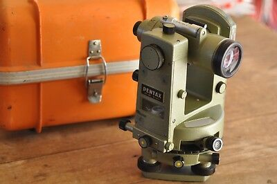 Pentax GT-4B Surveyor Glass Circle Transit/Theodolite w/ Case No Reserve