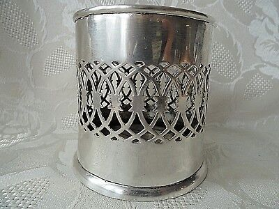 Vintage silver plated bottle coaster / stand ROCKINGMAN Sheffield H - 8 cm.