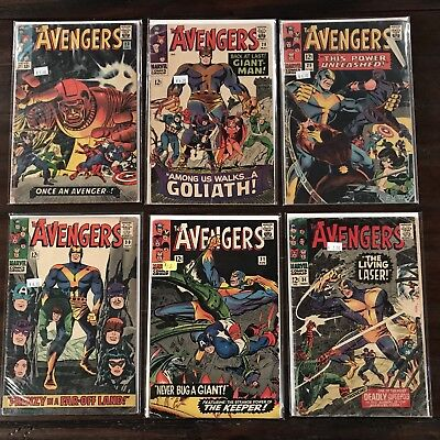 Avengers Lot of 35 Issues between 1 - 100!!  (Run Set 4) Black Panther!