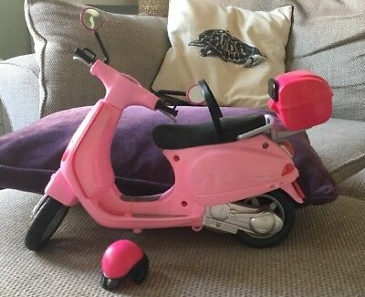Barbie Pink Scooter And Helmet