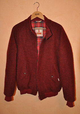 Baracuta G9 Men's Wool Burgundy Harrington Jacket Size 40 M Medium P2P 22""