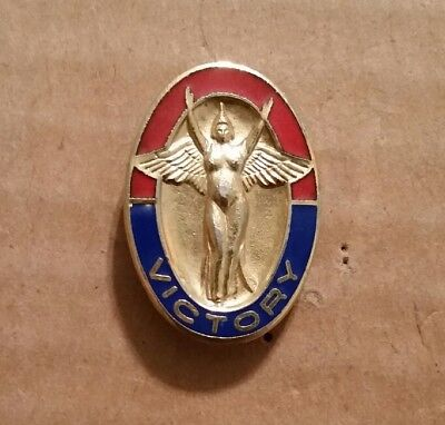 """WWII """"Victory"""" Home Front Lapel Pin,1945"""