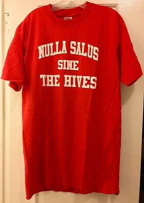 VINTAGE THE HIVES 2002 USA TOUR SHIRT Large L Garage Rock Sweden Punk