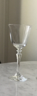 Wine glasses (six) lead crystal in v.g. condition