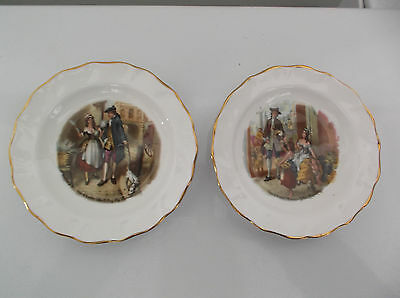 Vintage Two Duchess Bone China Small Plates - Cries Of London - Made In England