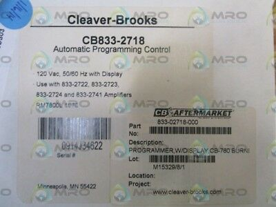Cleaver-Brooks Automatic Programming Control Cb833-2718 *new In Box*