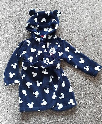 mick mouse dressing gown age 9-12 months