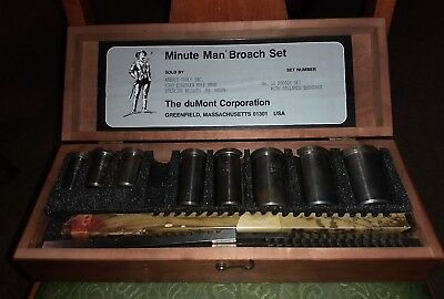 Minute Man No. 10 Broach Set with Collared Bushings