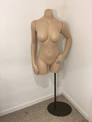 Female Nude Lady Bust Torso Statue Pole Stand