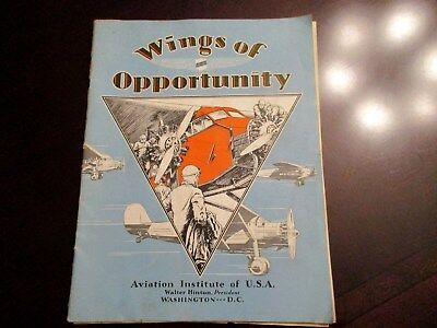 1929 Magazine Wings Of Opportunity Walter Hinton Trans-Atlantic Pilot Avia. Inst