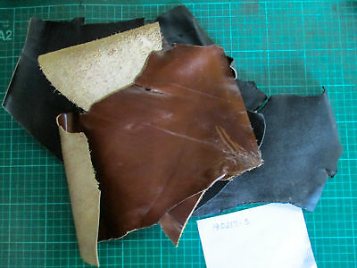 Leather Offcuts 5 pieces black and brown suit patches, toys 180217-3