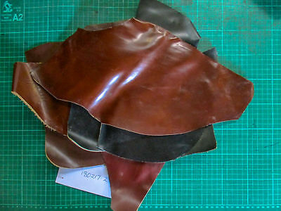 Leather Offcuts 6 pieces black and brown suit patches, toys 180217-2