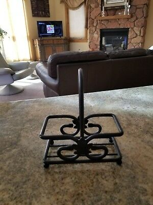 Longaberger Wrought Iron Stand for S&P or Oil Bottles Etc.