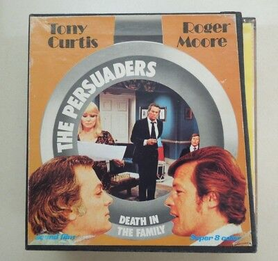 SUPER 8mm - SET OF 3 FILMS - THE PERSUADERS - DEATH IN THE FAMILY