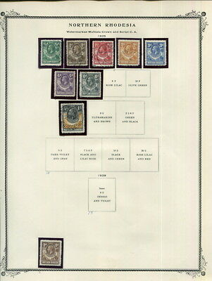 Northern Rhodesia On Scott Specialty Pages-1925-1953!