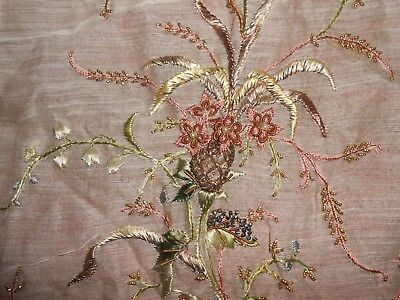1920's HAND EMBROIDERED DRESS FABRIC