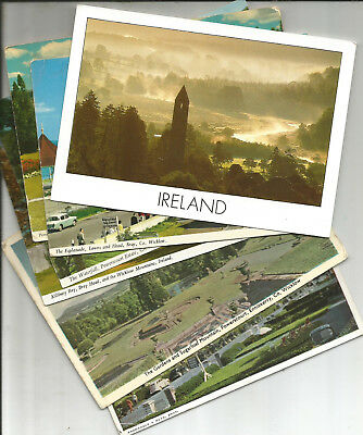 7 Postcards Of County Wicklow, Ireland, Bray, Glendalough, Enniskerry,