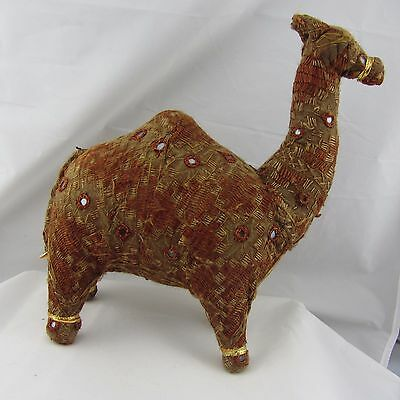 Vintage Camel  Embroidered Cross Stitch Hand Made Stuffed