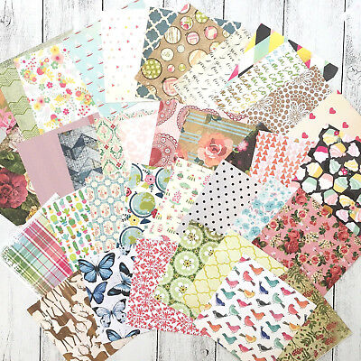 Patterned Paper 37 Sheets 6 x 6 Inch, Scrapbooking, Cards, Craft, Planner, Art