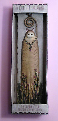 "2003 Eileen Smithson~ WILDFLOWER~ 11"" Orange Cat Tail Wall Plaque Wall Decor 3D"