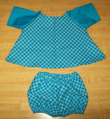 """GREEN WINTER OUTFIT SKATING DRESS PANTY MUFF+CAP for 16-17/"""" CPK Cabbage Patch"""