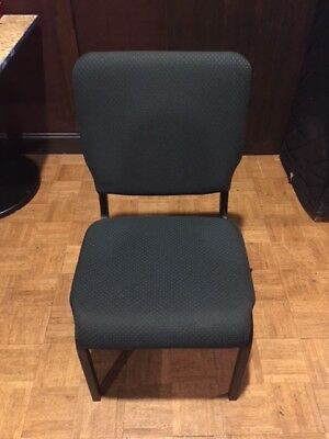 Stacking Banquet Chairs - Green Cloth with Black Frame