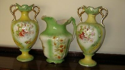 Victorian Vases/Jardinieres and Jug - very large p/u 3072