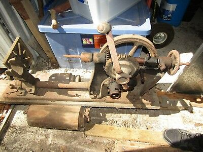 Rare Hand Crank Buffalo Forge Co Blacksmith/post /wall Mount Drill Press – Farm
