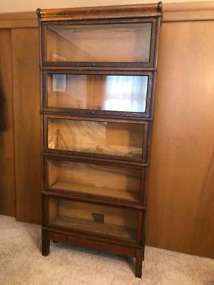 Antique Globe Wernicke Grade 299 5 Stack Original Tiger Oak Barrister Bookcase