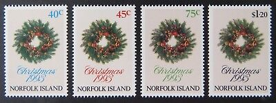 1993 Norfolk Island Stamps - Christmas - Set of 4 MNH