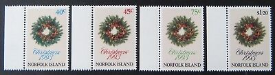 1993 Norfolk Island Stamps - Christmas - Set of 4 with Tabs MNH