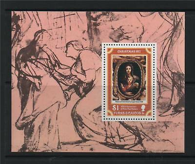 Turks & Caicos 1977 Christmas MS SG 488 MNH