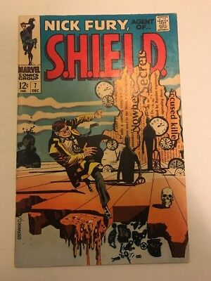 Nick Fury Agent Of Shield #7 Steranko Cover 1968 Marvel