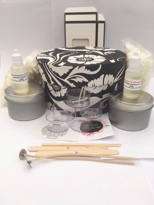 Candle Making Kit - Black and white floral