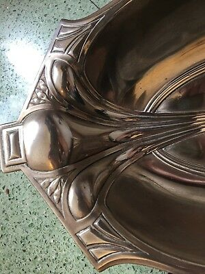 Gorgeous genuine antique silver-plate Art Nouveau dish/tray