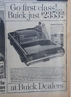 1963 newspaper ad for Buick - Go First Class with Buick Special