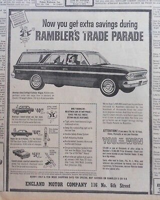 1963 newspaper ad for Rambler - 770 Station Wagon, American 220, Classic 550
