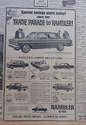 1963 newspaper ad for Rambler - Trade Parade to Rambler, Classic 770 & 5 models