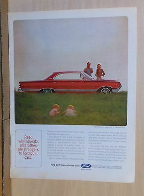 1964 magazine ad for Mercury - Carnival red Marauder, stranger to rattle, squeak