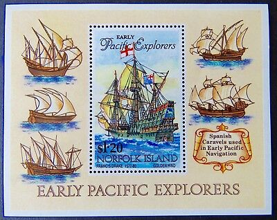 1994 Norfolk Island Stamps - Early Pacific Explorers Mini Sheet $1.20 MNH