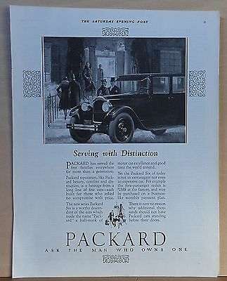 1926 magazine ad for Packard Six - Serves first families everywhere, distinction